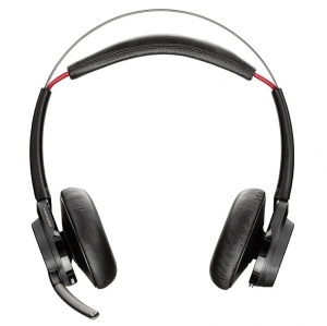Poly Voyager Focus B825-M UC MS USB-A Bluetooth Over the Head Wireless Stereo Noise Cancelling Headset - Optimised for Microsoft Business Applications