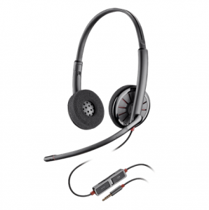 Poly Blackwire 225 UC Wired Stereo 3.5mm Headset