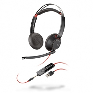 Poly Blackwire 5220 UC Wired Stereo Over Head USB Type-A Headset