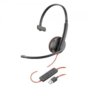 Poly Blackwire C3210 USB-A Over the Head Wired Mono Headset