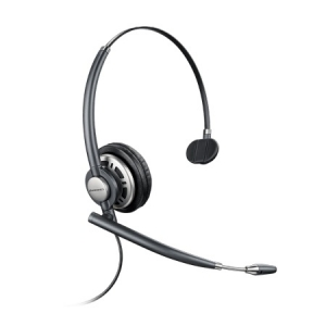 Poly Encorepro HW710 Quick Disconnect Over the Head Wired Mono Headset with Noise Cancelling