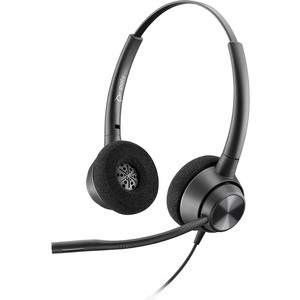 Poly Encorepro EP320 Quick Disconnect Over The Head Wired Stereo Headset with Noise Cancelling - Black