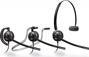 Poly Encorepro HW540 Quick Disconnect Over the Head Wired Mono Headset with Noise Cancelling