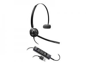 Poly Encorepro HW545 USB-A Over the Head Wired Mono Headset with Inline Controls