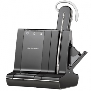 Poly Savi W745 UC Bluetooth DECT Wireless Convertible Headset with Hot Swappable Battery