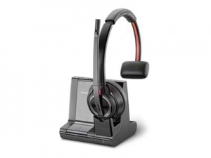 Poly Savi W8210-M UC MS Bluetooth DECT Over the Head Wireless Mono Headset - Optimised for Microsoft Business Applications