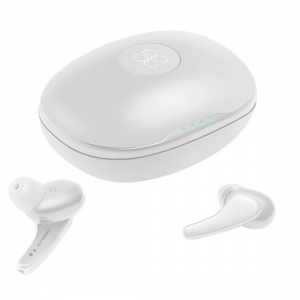 Promate Autonomy High Definition Metallic In-ear Wireless Earbuds with IntelliTouch - White