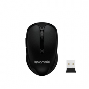 Promate CLIX-4 Wireless Ergonomic Optical Mouse - Black