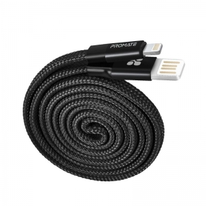 Promate COILINE-I 1.2m Lightning to USB Charge & Sync Cable - Black