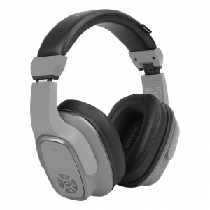 Promate Corvin 2-in-1 High Definition Bluetooth Overhead Wireless Headphone with Speaker - Grey