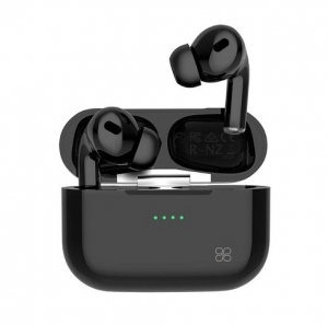 Promate Harmoni High Definition InteliTouch Wireless Stereo Earbuds with 240mAh Charging Case - Black
