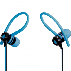 Promate Jazzy Universal Sporty Stereo Clip-on In-Line Gear-Buds - Blue