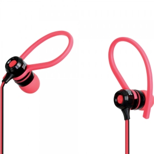 Promate Jazzy Universal Sporty Stereo Clip-on In-Line Gear-Buds - Pink