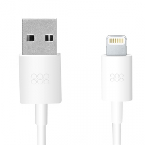 Promate LinkMate-LT 1.2M Lightning to USB iPhone Charge & Sync Cable - White