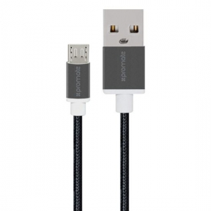 Promate LINKMATE-U2M Heavy Duty Mesh Armored Micro USB to USB Cable