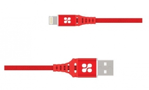 Promate NERVELINK-I2 2m Lightning to USB Charge & Sync Cable - Red
