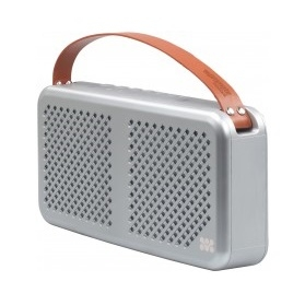 Promate Radiant 15W Wireless Bluetooth Splashproof Speaker with 4400mAh Power Bank - Silver