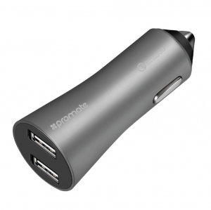 Promate ROBUST-QC3 3A Dual Port Quick Charge USB Car Charger