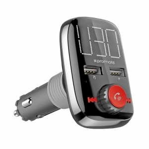 Promate SMARTUNE-3 Car FM Transmitter with USB Car Charger