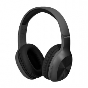 Promate SYMPHONY Lightweight Over Ear Wireless Bluetooth Headset - Black