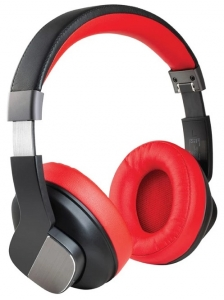 Promate TrueBeats On-Ear Wireless Stereo Headphone with Active Noise Cancelling - Red