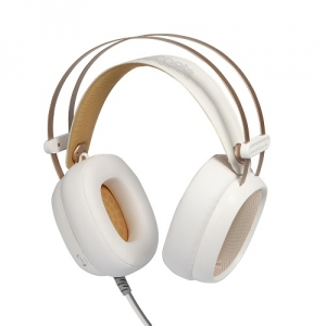 Promate Valiant Superior Over-Ear Stereo Wired Gaming Headphones - White