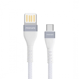 Promate VIGORAY-C 1.2m USB-A to USB-C Charge & Sync Cable - White