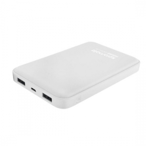 Promate VOLTAG-10 10000mAh Dual Port Battery Powerbank - White