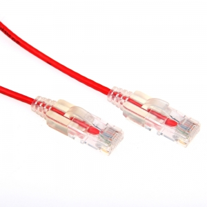 Dynamix 3m Red Cat6A Slimline 10G Component Level UTP Patch Lead