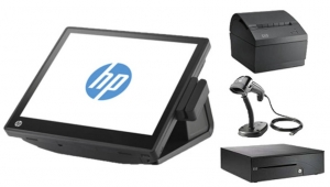 HP RP7 G540 POS Terminal With POS Ready 7 + Receipt Printer, Barcode Scanner & Cash Drawer