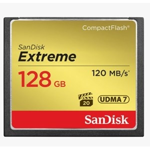 SanDisk 128GB Extreme VPG20 Compact Flash Card
