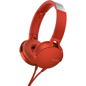 Sony MDR-XB550AP Extra Bass Overhead Style Wired Headphones - Red