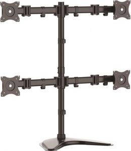StarTech Articulating Free Standing Quad-Monitor Desk Stand for 13-27 Inch Flat Panel TVs or Monitors - Up to 8kg per Display + Be in the draw to WIN 1 of 2 $500 Prezzy Cards