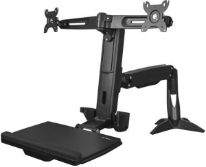 StarTech Dual Monitor Sit-Stand Workstation Desk Mount Bracket for up to 24 Inch Flat Panel TVs or Monitors - Up to 8kg (Monitor) + Be in the draw to WIN 1 of 2 $500 Prezzy Cards