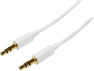 StarTech 3m Slim 3.5mm Stereo Audio Cable – White