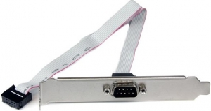 StarTech 40cm 9 Pin Serial Male to 10 Pin Motherboard Header Slot Plate