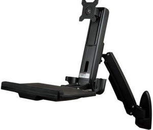 StarTech Single Monitor Sit-Stand Workstation Wall Mount Bracket for up to 24 Inch Flat Panel TVs or Monitors - Up to 8kg Display + Be in the draw to WIN 1 of 2 $500 Prezzy Cards