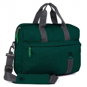 STM Judge 15 Inch Laptop Brief Shoulder Bag - Botanical Green