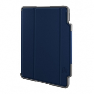 STM Dux Plus Folio Case with Apple Pencil Storage for iPad Pro 11 Inch - Midnight Blue