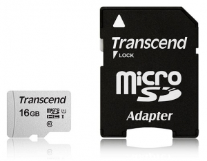 Transcend 16GB Micro SD Memory Card with SD Adapter