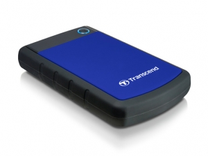 Transcend StoreJet 25H3 2.5 inch USB 3.0 Extra-Rugged 2TB External Hard Drive - Blue + FREE Hard Drive Pouch!