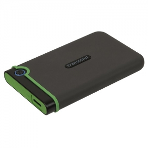 Transcend StoreJet 2.5 Inch 2TB USB 3.0 Anti-Shock External Hard Disk Drive + FREE Hard Drive Pouch!