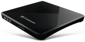 Transcend External Slim 8 X DVD Writer (USB 2.0) Black Extra Slim