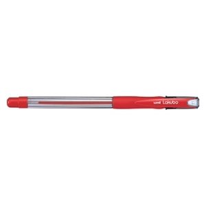 Uni-Ball Lakubo 100 1.0mm Red Ballpoint Pen - 12 Pack