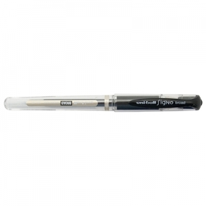 Uni-Ball Signo 153 1.0mm Black Rollerball Pen - 12 Pack