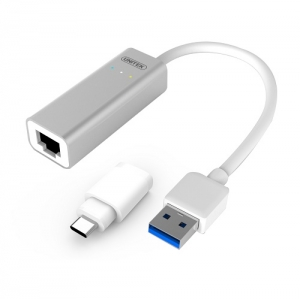 Unitek USB Type-A and USB-C to Gigabit Ethernet Adapter