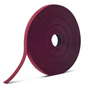 Velcro 12.5mm x 22.8m One-Wrap Fire Retardant Continuous Cable Roll - Cranberry