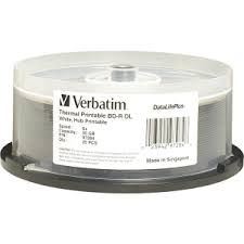 Verbatim DataLifePlus 6x BL-R DL 50GB Blu-ray Recordable Media - 25 Pack Spindle