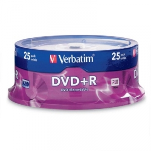 Verbatim DVD+R 16x 4.7GB Spindle - 25 Pack