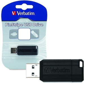 Verbatim Store 'n' Go Pinstripe 32GB USB3.0 Flash Drive - Black